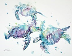 Turtle Ballet by Amanda Gordon -  sized 20x16 inches. Available from Whitewall Galleries